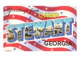 Greetings from Camp Stewart, Georgia Posters