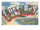 Greetings from Gulfport, Mississippi Affiches