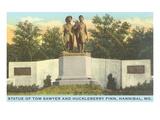 Tom Sawyer, Huck Finn Statue, Hannibal Missouri Prints