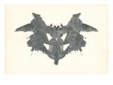 Bat Rorschach Test in Black Posters