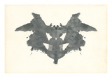 Bat Rorschach Test in Black Posters