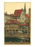 Banks of the Limmat, Zurich, Switzerland Art