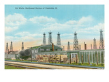 Oil Wells, Centralia, Illinois Posters