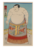Woodcut of Japanese Man Affiches
