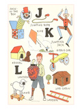 Learning the Alphabet, J, K and L Poster