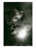 Welder in Mask Posters