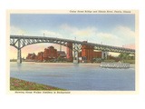 Cedar Street Bridge, Peoria, Illinois Posters