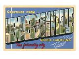 Greetings from Hendersonville, North Carolina Art