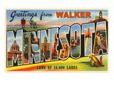 Greetings from Walker, Minnesota Posters
