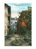 Courtyard, French Quarter, New Orleans, Louisiana Prints
