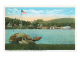 Weirs, Interlaken Park, Lake Winnipesaukee, New Hampshire Prints