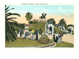 Metairie Cemetery, New Orleans, Louisiana Print