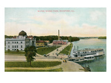 Water Works Park, Rockford, Illinois Poster