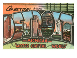 Greetings from Detroit, Michigan Posters