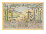Biblical Scene, Hebrew Text Prints