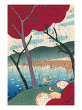 Woodcut of Japanese Fisherman Prints
