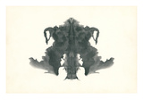 Rorschach Test in Black Posters