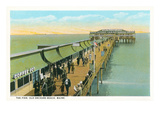 Pier, Old Orchard Beach, Maine Prints