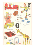 Learning the Alphabet, Fand G Posters
