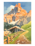 Painting of Mountain Path Posters