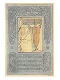 Biblical Scene, Hebrew Text Prints
