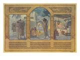 Biblical Scenes, Hebrew Text Art