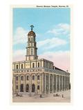 Mormon Temple, Nauvoo, Illinois Print