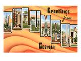 Greetings from Columbus, Georgia Prints