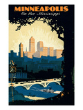Travel Poster for Minneapolis Posters