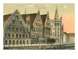 Old Houses in Ghent, Belgium Prints