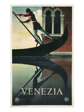 Leaning Gondolier, Venice, Italy Posters