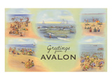 Greetings from Avalon, New Jersey Print