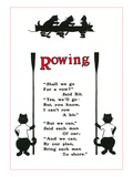 Rowing Poem About Cats Posters