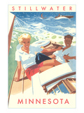 Couple Sailing, Stillwater, Minnesota Posters