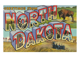 Greetings from North Dakota Poster