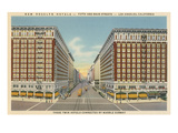 Rosslyn Hotels, Downtown Los Angeles Print