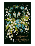 Heartiest Greetings, Vintage Bouquet Affiches
