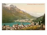 Overlooking St. Moritz, Switzerland Poster
