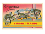 Greetings from St. Croix, Virgin Islands Poster