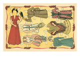 Mexican Paperdolls, Dresses Prints