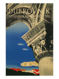 Travel Poster for Dubrovnik, Croatia Print