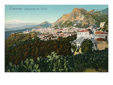Mt. Etna from Taormina, Sicily, Italy Prints