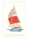 Sailboat, San Francisco Posters