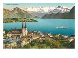 Lake Lucerne, Switzerland Print