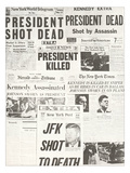 Kennedy Assassination Headlines Posters