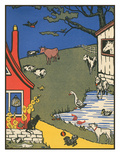 Bucolic Farm Scene Posters