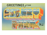 Greetings from Asbury Park, New Jersey Prints
