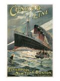Vintage Travel Poster for Cunard Lines Prints
