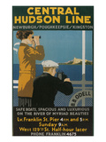 Travel Poster, Central Hudson Line Art