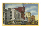 Broad Street at Military Park, Newark, New Jersey Print